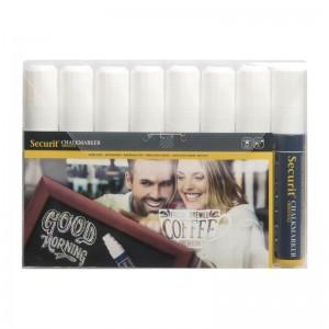 Marcadores blancos Wipe Clean Securit. 8 ud. gf260