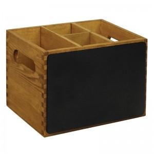 Caja de madera Olympia con lado de pizarra gm243