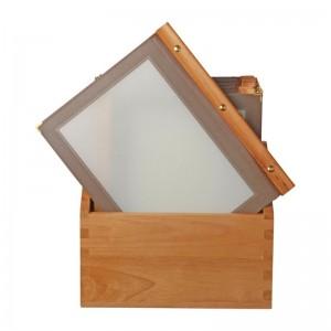 Porta-menus de madera Marron Securit. 20 ud. h762