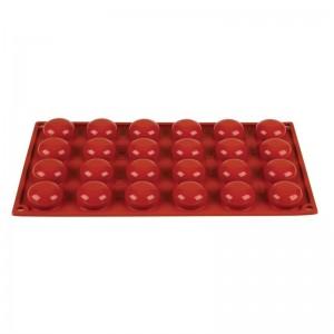 Molde pomponette de silicona x24 Pavoni n940