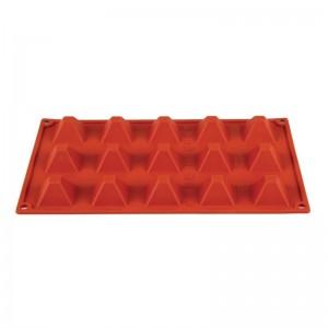 Molde piramide de silicona x15 Pavoni n942