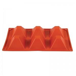 Molde piramide de silicona x6 Pavoni n943