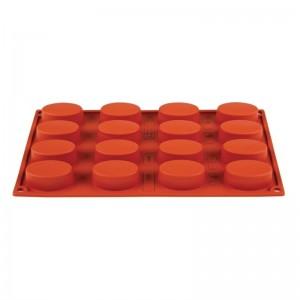 Molde ovalado de silicona x16 Pavoni n951
