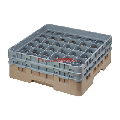 Cesta cristaleria Cambro Camrack beige 36 compartimentos vasos hasta 174(Al)mm de795