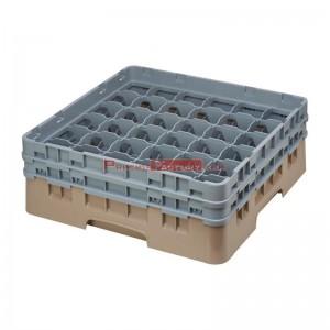 Cesta cristaleria Cambro Camrack beige 36 compartimentos vasos hasta 215(Al)mm de796