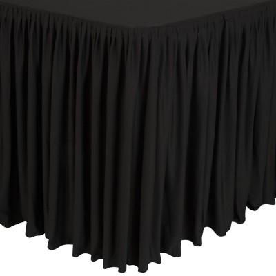 Mantel negro con faldon plisado cd397