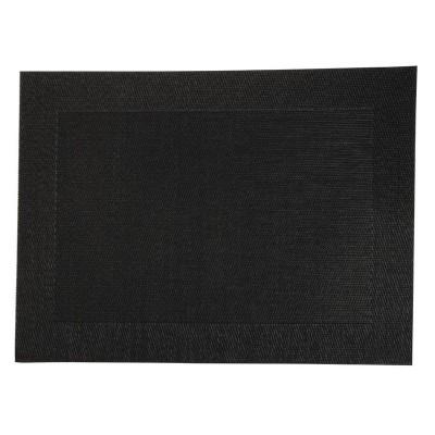 Mantel individual de PVC negro. 4 ud. gg042