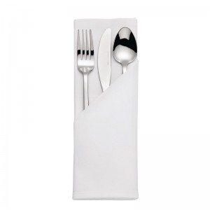 Servilleta Mitre Luxury Satinband blanca 550 x 550mm (Pack 10). 10 ud. hb559