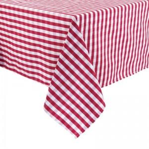 Mantel Mitre Comfort Gingham cuadros rojo/blanco poliester 1320 x 1320mm hb582