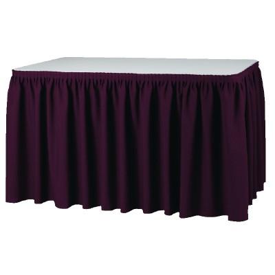 Faldon de mesa plisado bordo t995