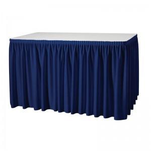 Faldon de mesa plisado azul oscuro t997