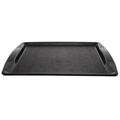Bandeja comida rapida Kristallon negra con asas 430x305x25mm cm940