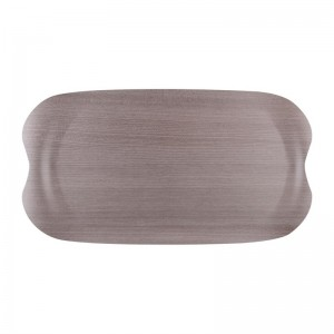 Bandeja servicio Roltex Wave 430x230mm gris madera ds020