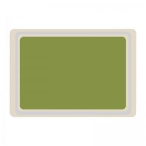 Bandeja servicio Roltex melamina 530x370mm verde ds082