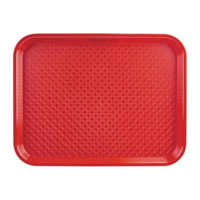 Bandeja Fast Food roja 350 x 450mm Kristallon p510