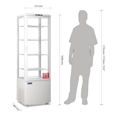 Refrigerador expositor puerta curva 235L Polar cb509