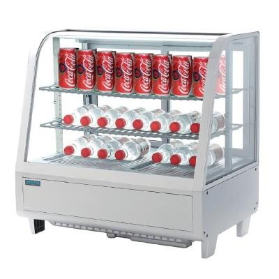 Unidad de vending refrigerada sobre mostrador blanca 100L Polar cc666