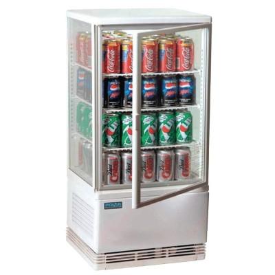 Expositor refrigerado blanco 68L Polar g619