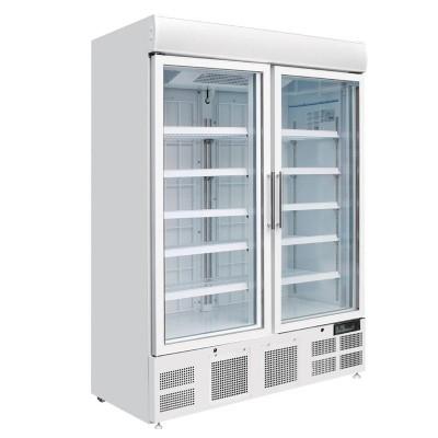 Vitrina congeladora Polar dos puertas panel iluminacion exterior gh507