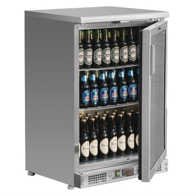 Enfriador expositor de bar acero inoxidable 104 botellas Polar ce205