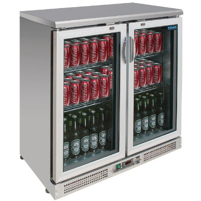 Vitrina botellera Polar acero inoxidable 180 botellas ce206