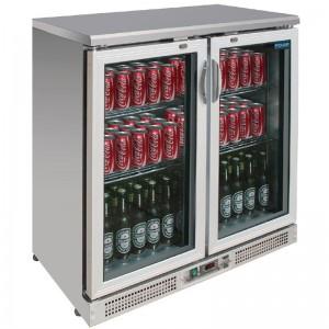 Vitrina botellera Polar acero inoxidable 180 botellas ce206