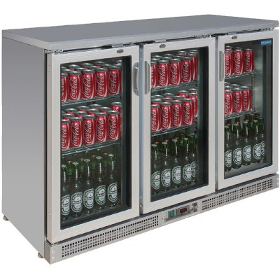 Vitrina botellera Polar acero inoxidable 3 puertas pivotantes ce207