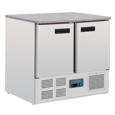 Mostrador frigorifico Polar mesa marmol 2 puertas 240Ltr cl108