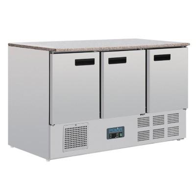 Mostrador frigorifico Polar mesa marmol 3 puertas 368Ltr cl109