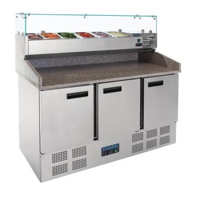 Mostrador preparacion Polar ensaladas/pizzas 3 puertas cn267