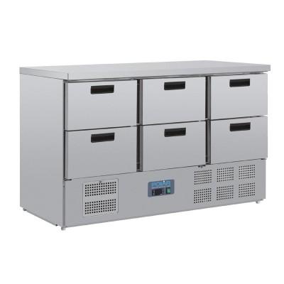 Mostrador frigorifico Polar 6 cajones cr711