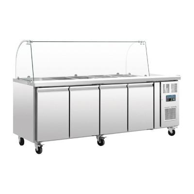 Mostrador frigorifico preparacion Polar GN 4 puertas con pantalla ct395