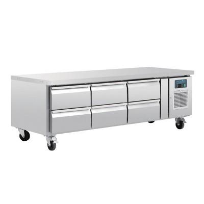 Mostrador refrigerado Polar GN Chef base 6 cajones da465