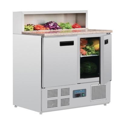 Mostrador de preparacion de pizza refrigerado Polar 288L g603