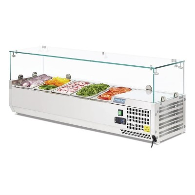 Vitrina frigorifica para ingredientes Polar 5 cubetas Gastronorm 1/4 g608