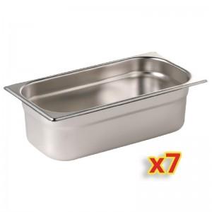 Kit 7 contenedores Gastronorm un cuarto Polar. 7 ud. s408