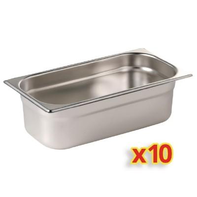 Kit 10 contenedores Gastronorm un cuarto Polar. 10 ud. s410