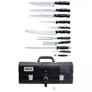 Juego de cuchillos Pro Dynamic 11 piezas con bolsa enrollable Dick dl384