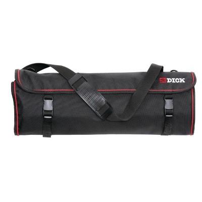 Bolsa textil enrollable para cuchillos negra y tira 11 ranuras Dick gd796
