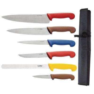 Juego de cuchillos de cocina codificados por color Hygiplas s088