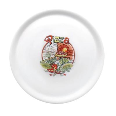 Plato para pizza de 31cm con decoracion X23 dj956