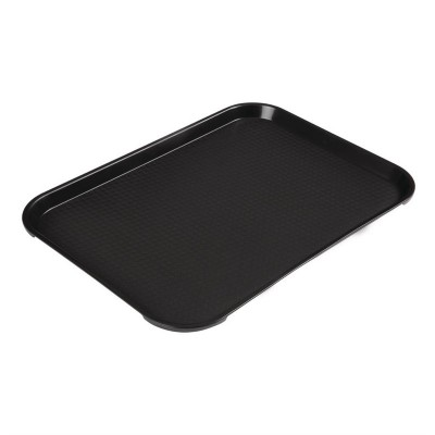 Bandeja rectangular de comida rapida negra Cambro de 300x410mm de312