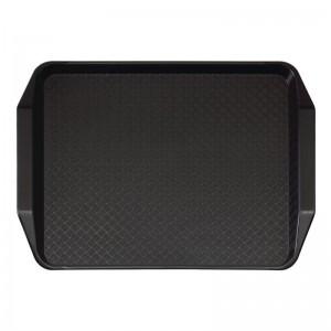 Bandeja rectangular de comida rapida con asas Cambro negra 300x410mm de314