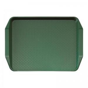 Bandeja rectangular de comida rapida con asas Cambro verde 300x410mm de316