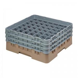 Cesta cristaleria Cambro Camrack beige 49 compartimentos vasos hasta 174(Al)mm de798
