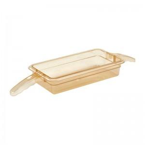 Cubeta para alimentos calientes Cambro de policarbonato con doble mango GN-1/3 65mm dw488