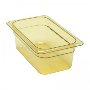 Cubeta para alimentos calientes Cambro de policarbonato GN-1/4 100mm dw490