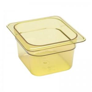 Cubeta para alimentos calientes Cambro de policarbonato GN-1/6 100mm dw493