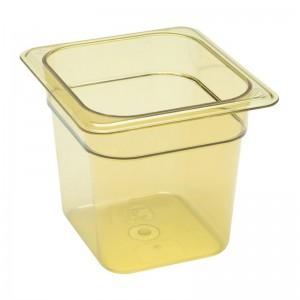 Cubeta para alimentos calientes Cambro de policarbonato GN-1/6 150mm dw494