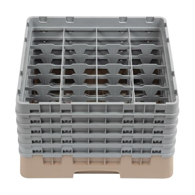 Bandeja cristaleria Cambro Cam de 16 compartimentos beige-Maxima altura de 257mm dw552